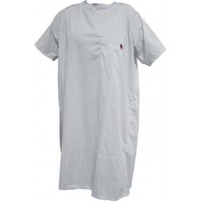 HOSPITAL SHORT-SLEEVE NIGHTDRESS S/S WHITE