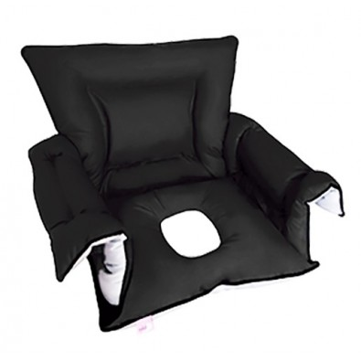 PADDED SANILUXE SEAT COVER W/HOLE S/L