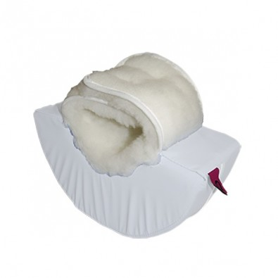 SEMICYLINDRICAL HEEL PAD WHITE