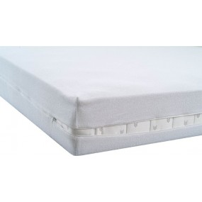 TERRY  MATTRESS COVER WHITE 80X190X20 CM