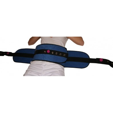 PADDED BED RESTRAINT BELT W/MAGNET S/S