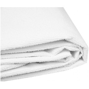 WHITE ADJUSTABLE TERRY STRETCHER SHEET