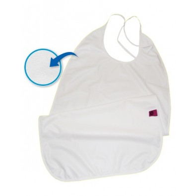 TERRY BIB W/LOOP CLOSURE & POCKET FIXED
