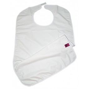 VINYL BIB WITH VELCRO CLOSURE & POCKET FIXED
