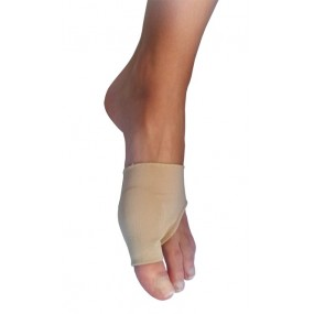 TISSUE-COVERED GEL BUNION PROTECTIVE SLEEVE